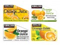 Costco Kirkland Brand Orange Juice Labels