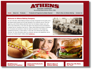 Athens Baking Company Website